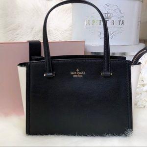 Kate Spade ♠️ NWT Black & White Small Satchel Bag